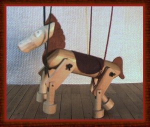Wild Horse Marionette  in Natural